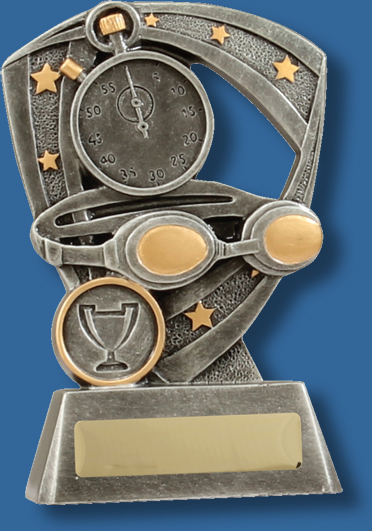 Swim pro shield swimming trophy