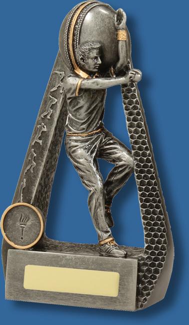 Cricket portal bowler antique silver trophy