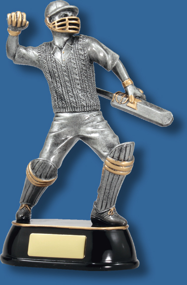 Cricket celebration silver batsman trophy
