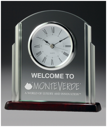 Chrome and timber clock business award