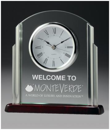Chrome and timber clock business award
