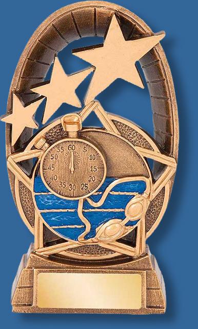 star galaxy swimming trophy