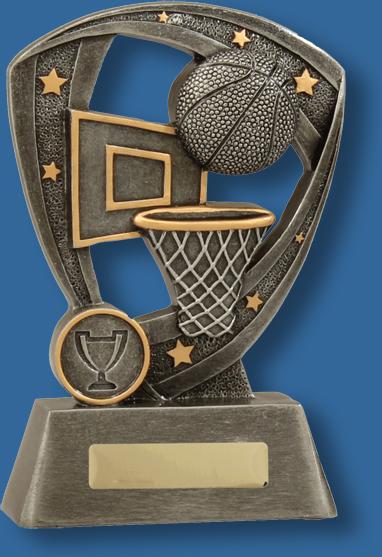 Basketball trophy pro shield series