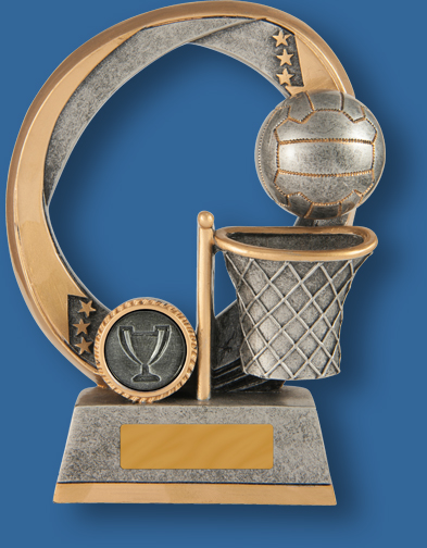 Netball elliptical trophy