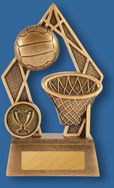 Netball trophy golden pinnacle