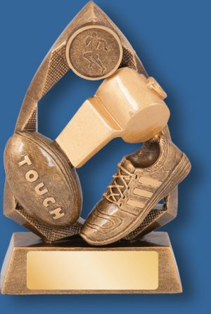 Touch football trophy jewel