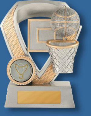 Basketball Trophy Shield Series