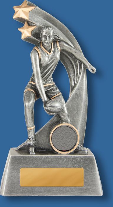 Australian Rules female handball trophy