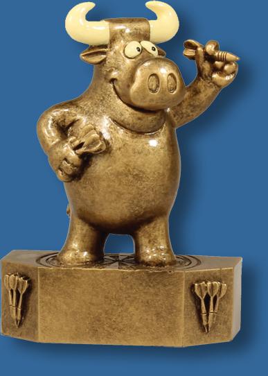 Prize bull darts resin trophy