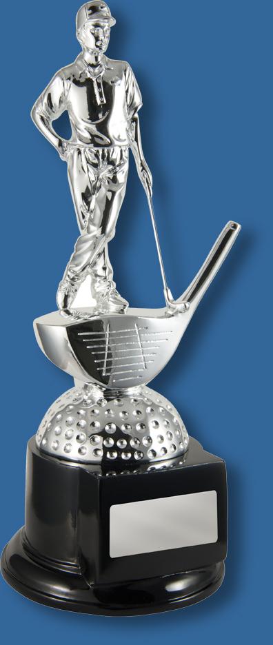 Golf pro birdie trophy