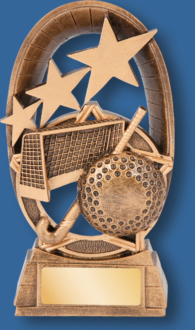 Galaxy trophy ball and stick stars