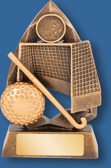 Hockey Jewel trophy net and stick