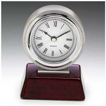 Chrome and timber clock award