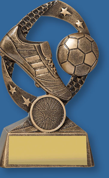 Bronze Soccer Award Axis Series