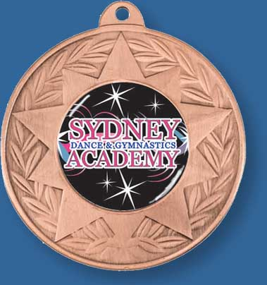 Dance Medal Bronze with neck ribbon