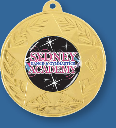 Dance Medal Gold MCIS#BM002Gi wiith neck ribbon