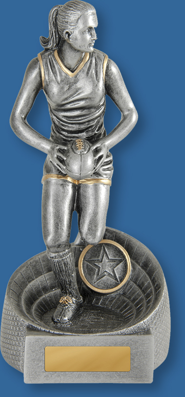 Female Aussie Rules Trophies Gladiator Series. Smaller Range.