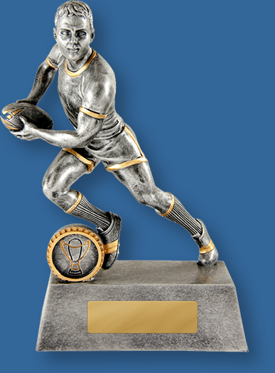 Rugby Trophy Larger Mercurial Series