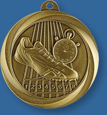 Athletics medal with neck ribbon