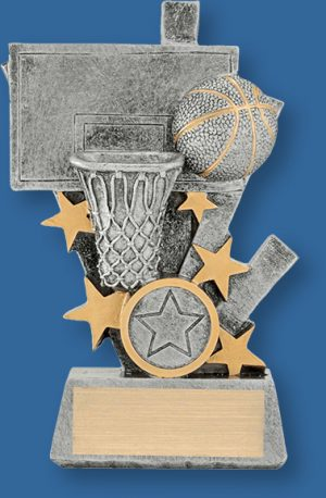 Basketball Trophy Flare Stars Basketball