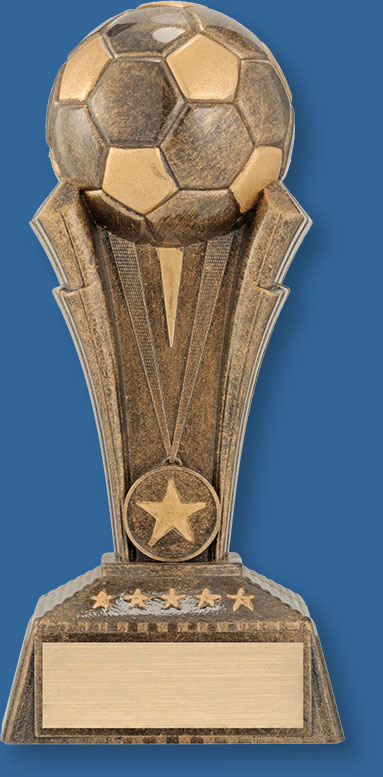 Football Trophy Torch Football 3D