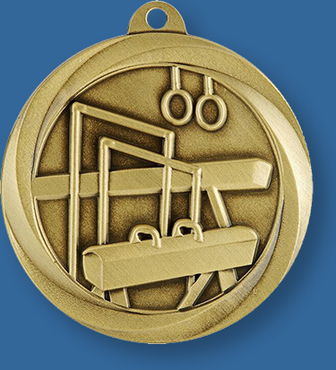 Gymnastics Medal With neck ribbon