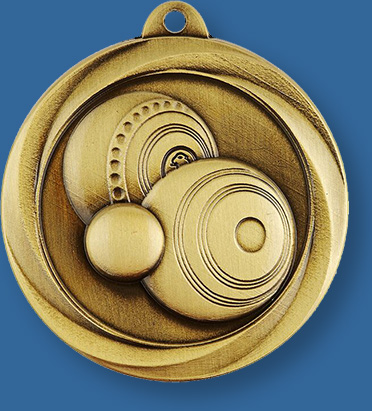 Lawn Bowls Medal Gold Only
