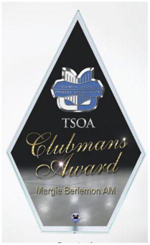 Clear Glass Arrowhead trophy