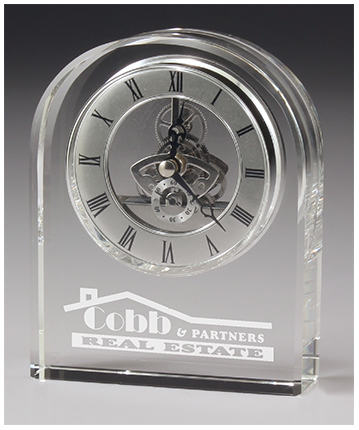 Epoch Crystal Clock Desk thick with Gift Box