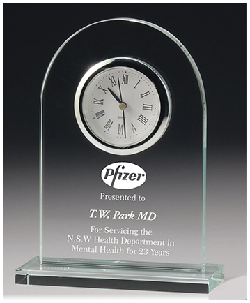 Glass Executive Desk Award 10mm thick Gift Boxed