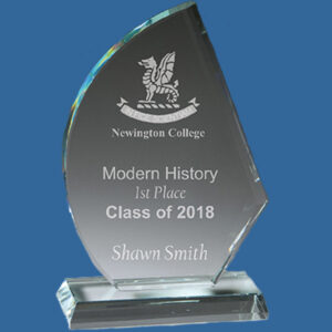 Glass Award, Glass Trophy Clipper Design