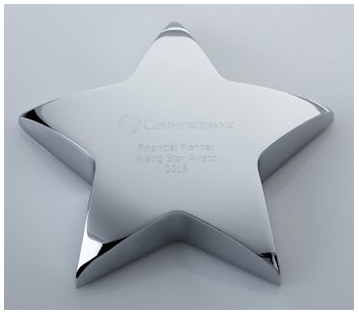 Star metal Paperweight Corporate Award