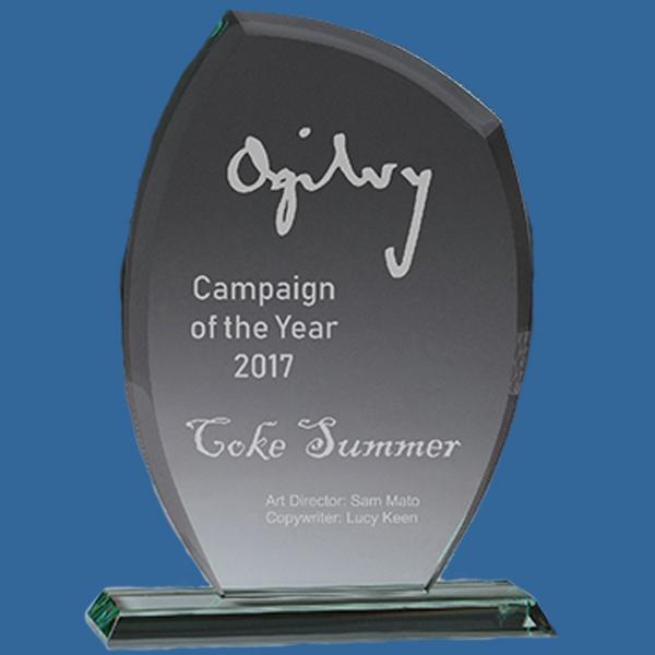 Glass Trophy Jade Tint.