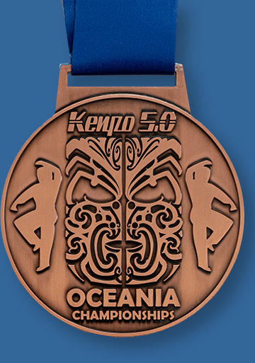 Bronze cast custom medal