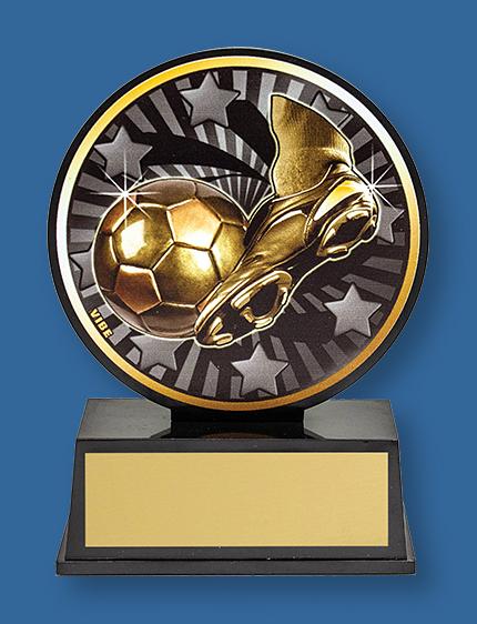 FootballSmall inexpensive football theme trophy.