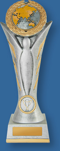 School Trophy Tall resin Silver and Gold trophy. Suitable schools and Academic institutions.