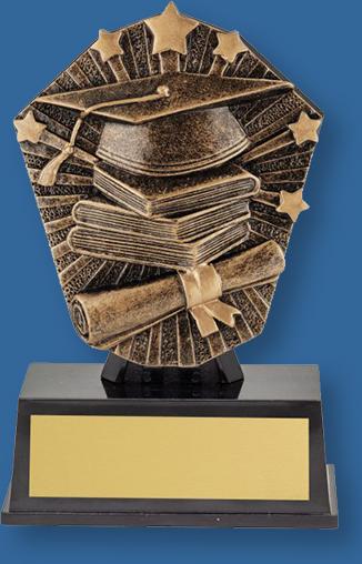 Academic theme bronze trophy on black base
