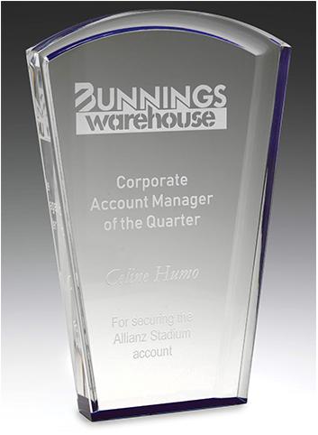 Acrylic trophy solar blue