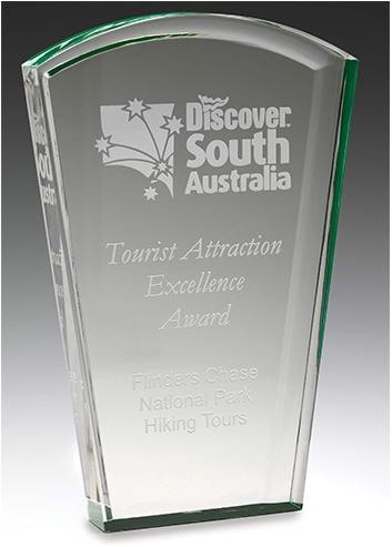 acrylic award solar green colour highlight