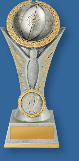 Aussie Rules trophy victory tower silver