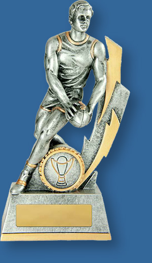 Aussie Rules trophy male figure lightning