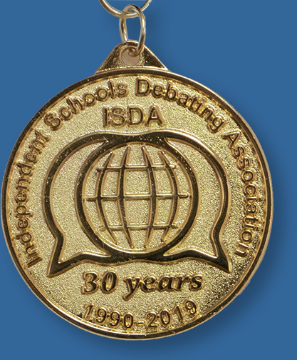 Cast gold medal ISDA
