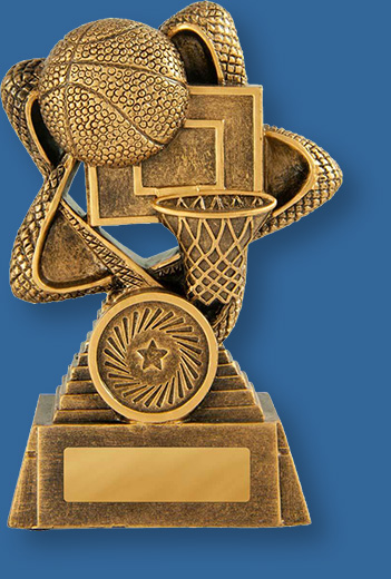 Basketbakk trophy gold them rising star