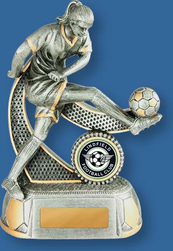 Lindfield Soccer Club Female Resin Grey Trophy