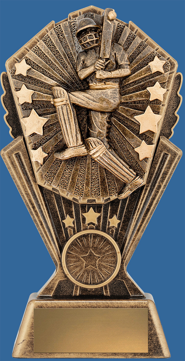 Cosmos Series Bronze Cricket Trophy Male Batsman detail