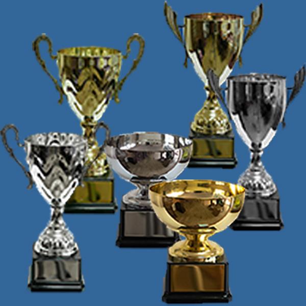 Pressed Metal Trophy Cups