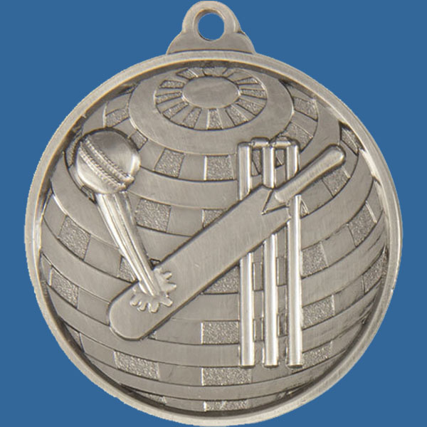 Cricket Global Series Medal - 5mm Thick Antique Silver 50mm Medal Neck Ribbon included