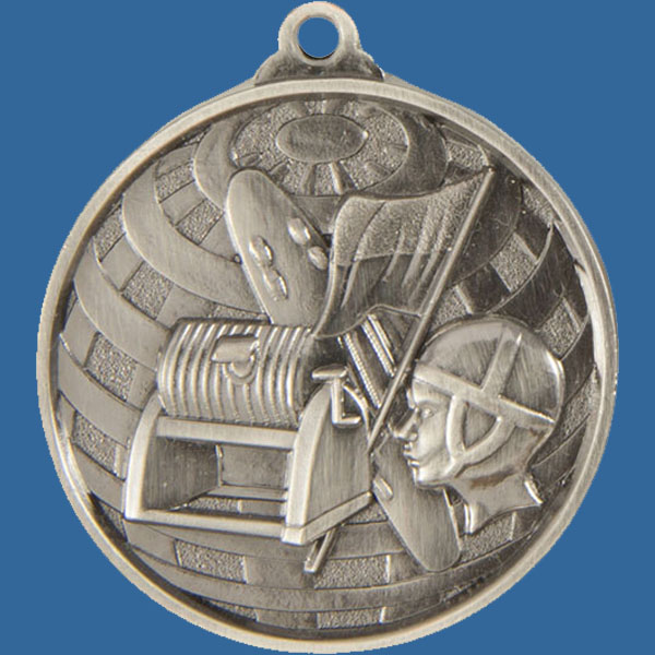 Surf Lifesaving Global Series Medal - 5mm Thick Antique Silver 50mm Medal Neck Ribbon included