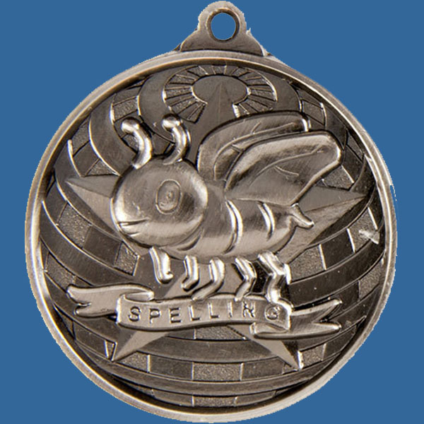 Spelling Global Series Medal - 5mm Thick Antique Silver 50mm Medal Neck Ribbon included