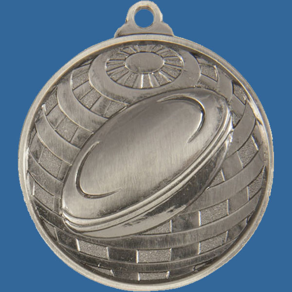 Rugby Global Series Medal - 5mm Thick Antique Silver 50mm Medal Neck Ribbon included